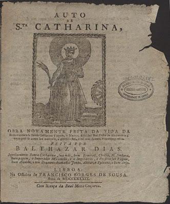 Auto de Santa Catharina - Baltasar Dias (1616)