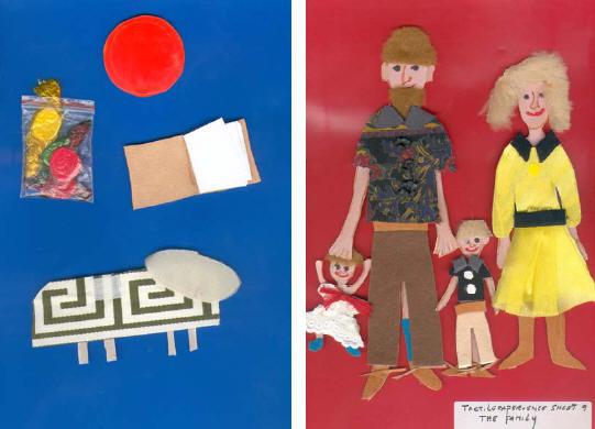 imágenes de material didáctico para alumnos invidentes en el aula de inglés