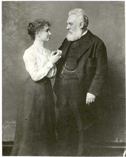 Helen Keller e o Dr. Alexander Graham Bell, 1902