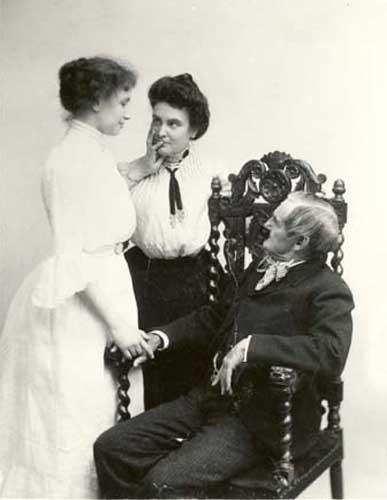Helen Keller, Anne Sullivan and Joseph Jefferson-1902