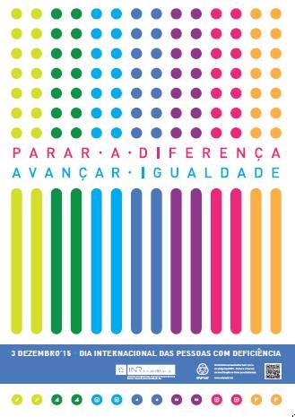 Cartaz vencedor do 'Concurso Cartaz 3 de Dezembro' promovido pelo INR em 2015