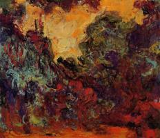 Monet - La maison vue du jardin aux roses, 1922-1924