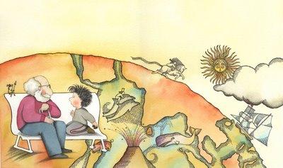 """ilustração de """"Papirofobia"""" - Susanna Tamaro, Ed. Atlantida, 2000."""