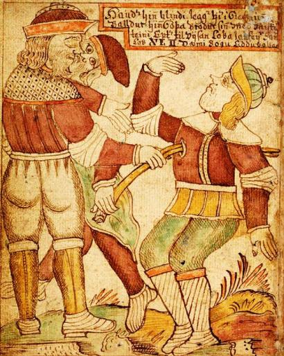 A morte de Balder às mãos de Hoder, o seu irmão cego