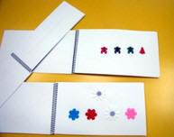 Cuadernillos de iniciación a la lectura braille.