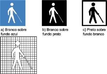 Símbolo internacional de pessoas com Deficiência Visual (Cegueira)