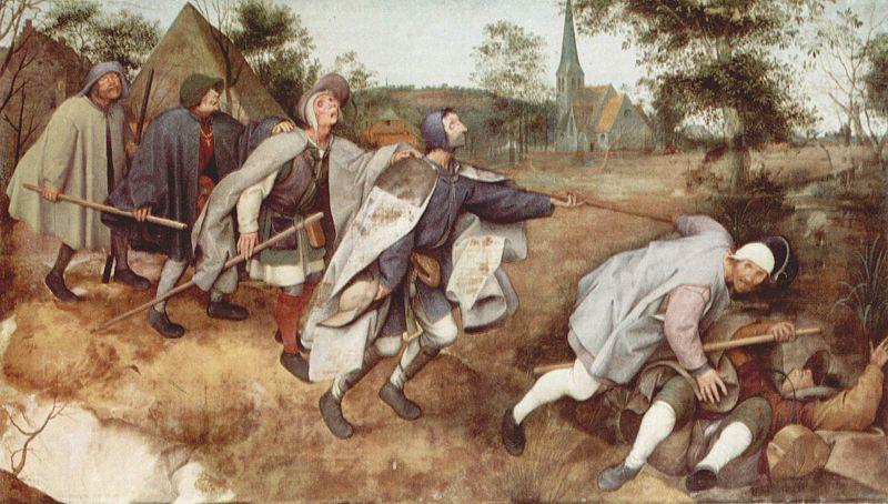 A Parábola dos Cegos - pintura de Pieter Brueghel, 1568