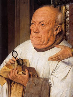 A Virgem com o Cónego - pormenor - Jan van Eyck, 1436