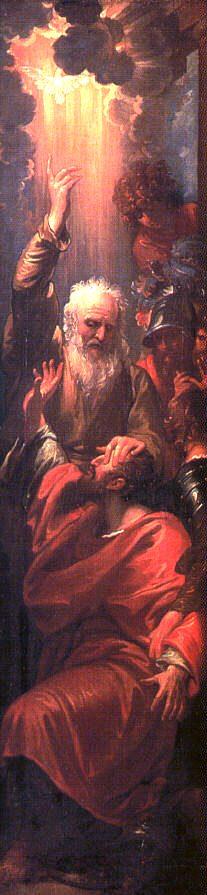 Ananias heals St Paul blindness - Benjamin West