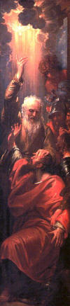 Ananias heals St Paul blindness - Benjamin West