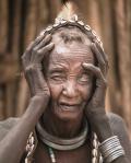 Anciã cega em Vale do Omo, Etiópia - foto Joel Santos