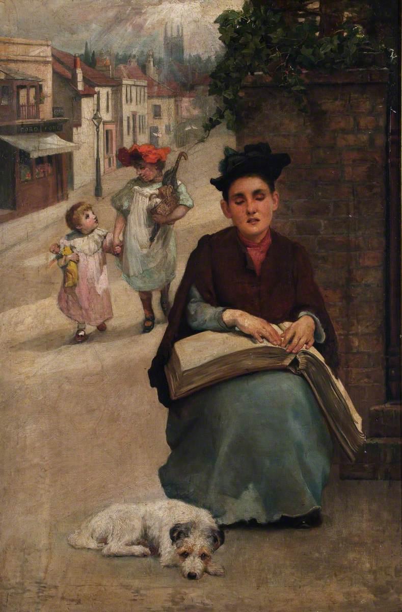 Blind Girl - Beatrice Offor - óleo sobre tela -1906/1917