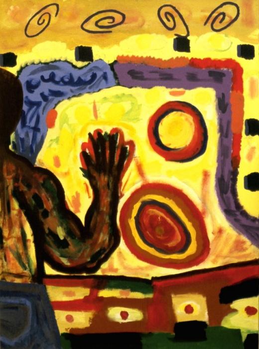 """""""Cego tocando o Sol""""  - pintura de George Mendoza"""