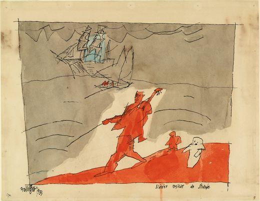 Blind Musician on the Beach-Lyonel Feininger-1933
