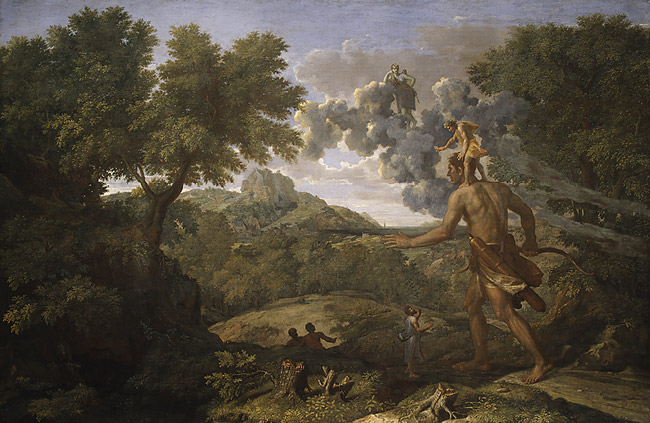 Blind Orion Searching for the Rising Sun - NicolasPoussin, 1658