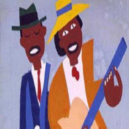 Músicos de rua-William H.Johnson-1940-45