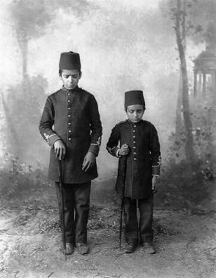 Blind Student portraits - School for the Blind - Istanbul-1880-1800