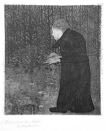 Mulher cega no bosque - Paula Modersohn Becker