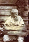 Blind musician plays kantele