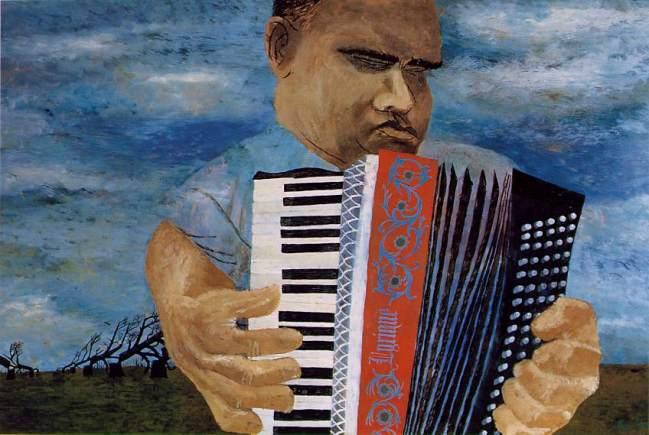 O acordionista cego-Ben Shahn, 1945
