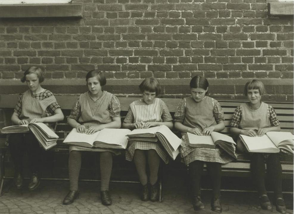 Blind children at their lessons - August Sander, c. 1930