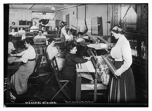 Blind Weavers at Work - Percy Byron, 1910-1915