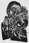 Blindenheilung - xilogravura de Walter Habdank