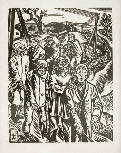 Procissão de cegos - Johannes Wohlfart, 1927
