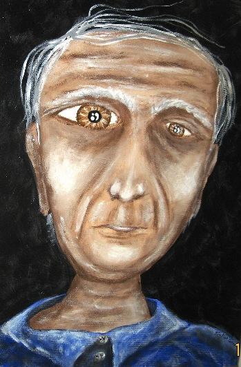 Calisto, o poeta zarolho, escurecido pela solidão do Outono - Mirtilo Gomes, 2007