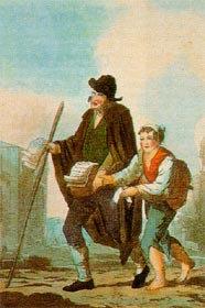 Cego vendedor de livros de cordel,  séc. XVIII