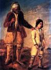 Criança conduzindo um guerreiro cego (Guerra  Grega da Independência) - Dionysios Tsokos
