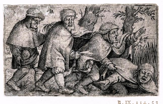 Quatro Cegos (alegoria)  Cornelis Massijs, c. 1550