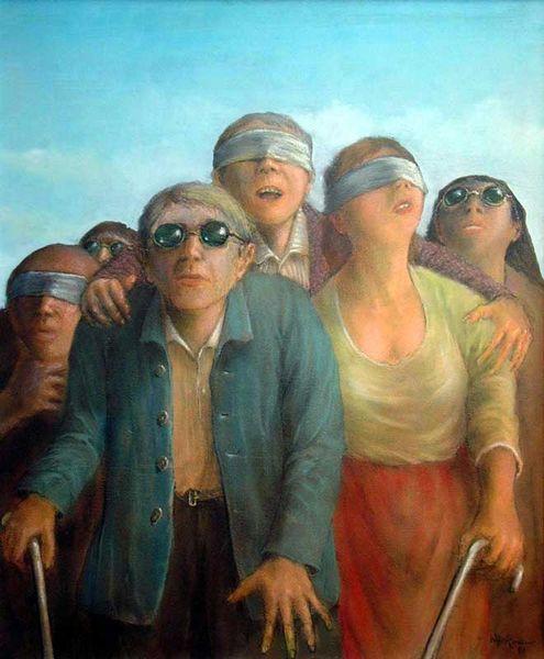 Der Blinde fuhrt die Blinden - Walter Heckmann, 1991