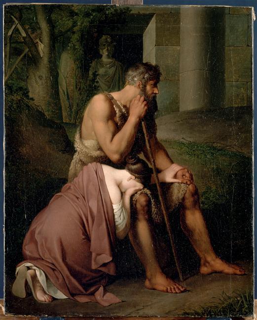 Édipo e Antigona - Peter Krafft Johann, 1809
