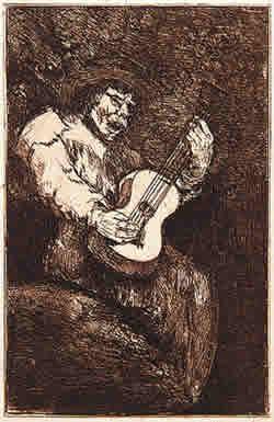O Cantor Cego - Goya, 1824-1828