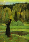 Elegy: Blind Musician - Mikhail Nesterov, 1928
