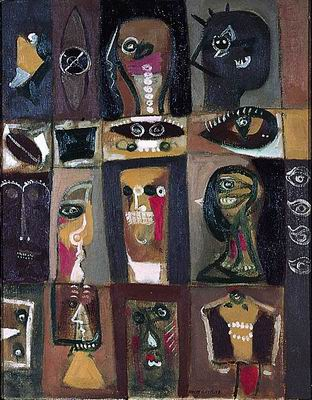 Os olhos de Édipo - Adolph Gottlieb, 1945