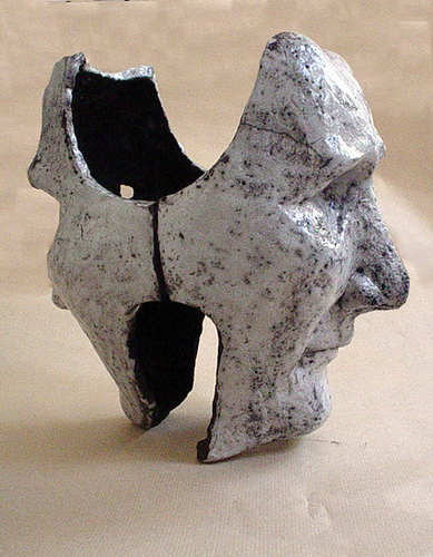 "Máscaras: ""O Falso Cego"" de Teresa Ponte [Cerâmica Raku, 2006]"