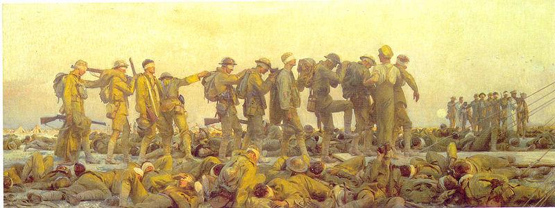 Gassed WWI - John Singer Sargent, 1918