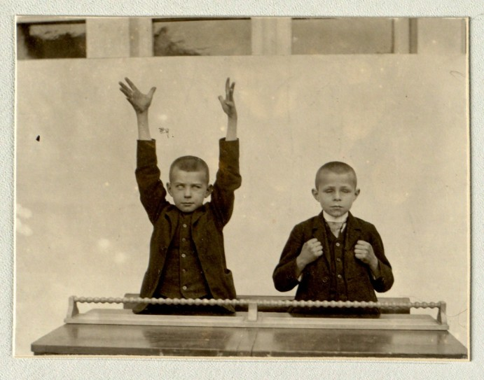 Hand Gymnastics- The training of the hand of the blind - Imperial Royal Inst. for the Education of the Blind - Vienna-1878-1898