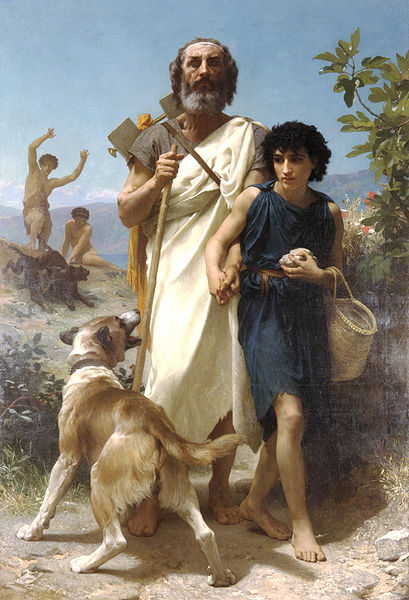 Homer and his Guide Glaucus - William-Adolphe Bouguereau, 1854