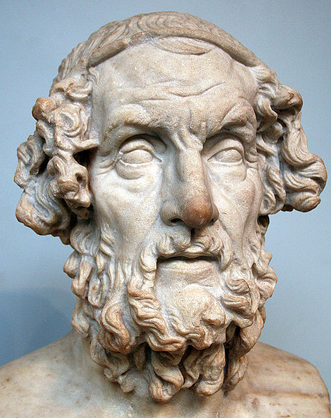 Busto de Homero - II sec AC