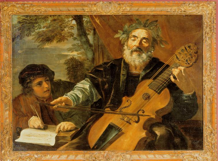 Homero - Pier Francesco Mola - séc. 17