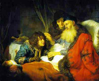 Isaac old & blind blessing Jacob - Govert Flinck, 1638