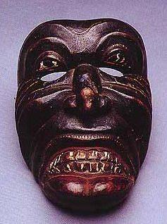 Kana Sanniya, demónio causador da cegueira - máscara usada em exorcismos,  Sri Lanka
