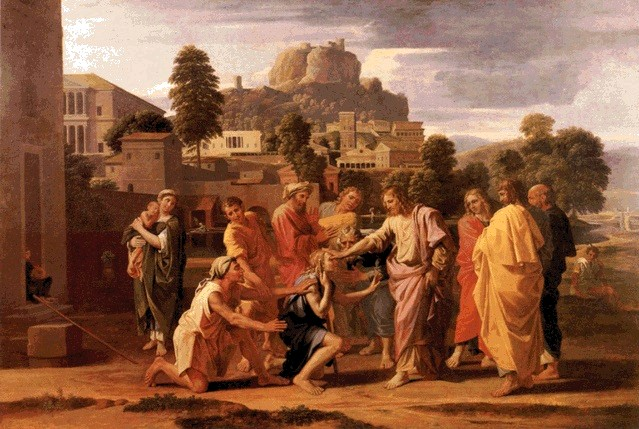 Christ Healing the Blind at Jericho - Nicolas Poussin, 1651