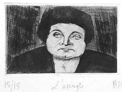 A Cega - gravura de Jean Messagier, 1945