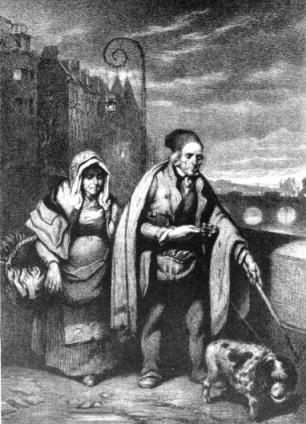 La Fin d'une Triste Journée - M. Alophe - litografia 1838