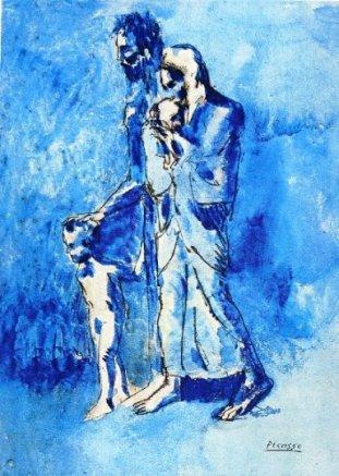 A família dohomem cego - Picasso, 1903