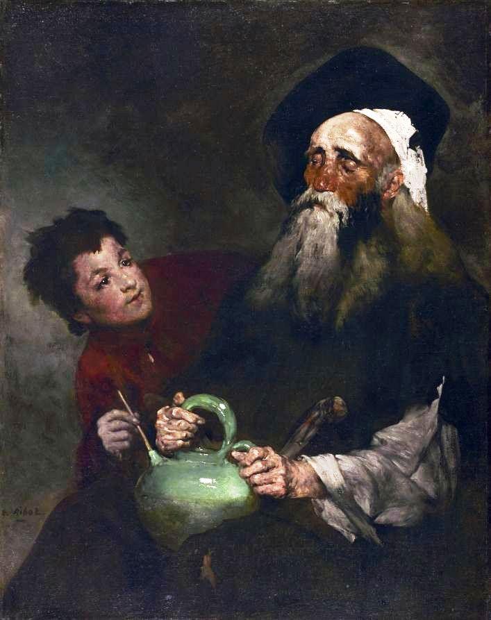 Lazarillo de Tormes e o seu mestre cego - Augustin Theodule Ribot, c.1880